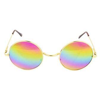 เลนส์แว่นตากลมเพศวินเทจสีสันสตีมพังก์แว่นตากันแดด