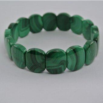 Pearl Jewelry กำไลหินมาลาไคท์ A43