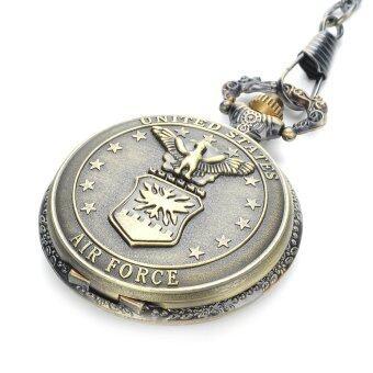 นาฬิกาควอทซ์กันน้ำรุ่นกระเป๋าสายโซ่-ทองเหลืองโบราณ (1 x 377)