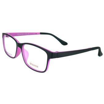 korea แว่นตา รุ่น 8534 สีดำตัดชมพูเข้ม (ทำจากพลาสติกที่เบาและยืดหยุนได้ + ปร้บขาได้)