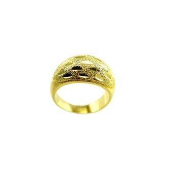 Tfine แหวนผญตัดลายโค้งไซส์7ชุบทอง