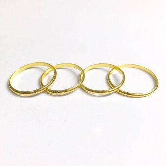 KPTGOLD แหวนทองคำแท้ 96.5% ลายลูกคิดเกลี้ยง น้ำหนัก 0.60 กรัม