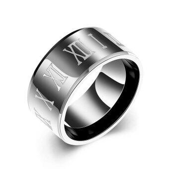 แฟชั่นไทเทเนียมเหล็กกล้าแหวนสำหรับผู้ชาย