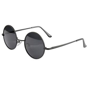 Bluelans เรโทรชายรอบกรอบแว่นตาแว่นตากันแดดสตรีเหล็ก