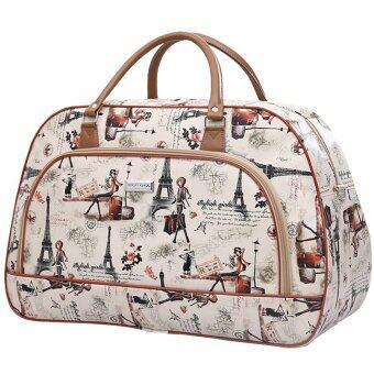 Little Bag กระเป๋าเดินทางใบเล็ก กระเป๋าเดินทางสะพายไหล่ กระเป๋าเดินทาง travel bag รุ่น LT-004 (สีน้ำตาล)