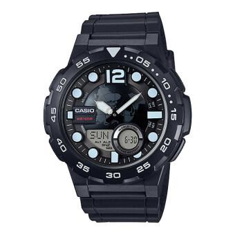 Casio Standard นาฬิกาข้อมือ 10 year battery รุ่น AEQ-100W-1AV