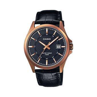 Casio นาฬิกาข้อมือผู้ชาย รุ่น MTP-1376RL-1AVDF (สีดำ)