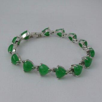Pearl Jewelry กำไลหยก รูปหัวใจ PD44