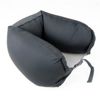 Harga MUJI Well fitted Neck Cushion U Shape Travel Neck Pillow Cushion Memory Foam Pillow Ergonomically Shaped Pillow and Seat Memory (Black Grey) - intl