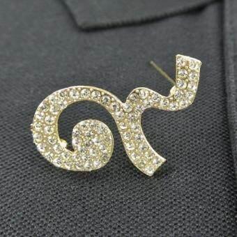 Pearl Jewelry เข็มกลัดไว้อาลัย เลข 9 สีทอง DIY20