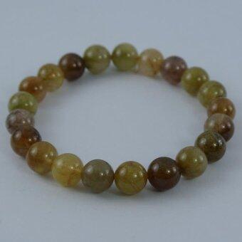 Pearl Jewelry กำไลหินไหมทอง5สี A08