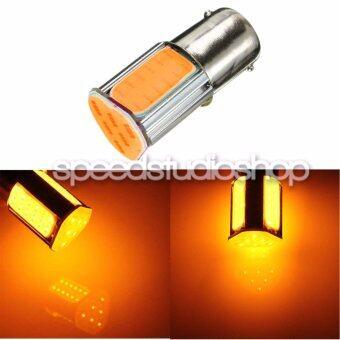 LED หลอดไฟ LED สามเหลี่ยม ขั้ว 1156 BA15S แบบเขี้ยว สำหรับไฟเลี้ยว ไฟถอย (สีส้ม)