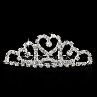 เพชรประดับมงกุฎเจ้าหญิงพลอยแก้วแต่งงานเหน็บหวีกะบังหน้าสำหรับงานพรอม #3