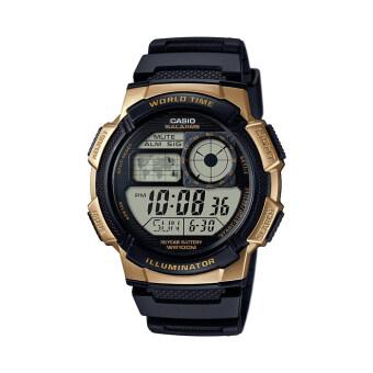 Casio Standard นาฬิกาข้อมือผู้ชาย - รุ่น AE-1000W-1A3VDF Black/Gold (ดำทอง)