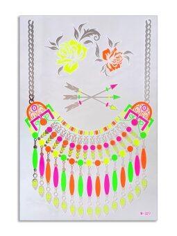555jewelry Selfie Tattoo สติ๊กเกอร์รอยสักแฟชั่น แทททูแบบลอกน้ำ (Multicolor)