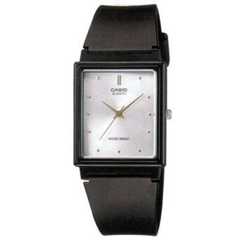 Casio Standard นาฬิกาข้อมือผู้ชาย สีเงิน สายเรซิ่น รุ่น MQ-38-7ADF