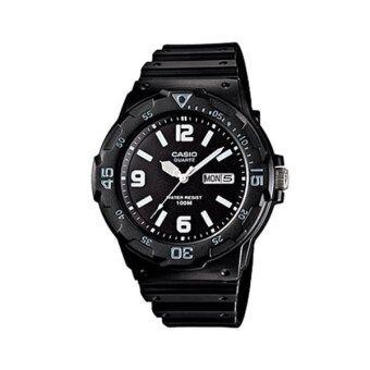 Casio Standard Men นาฬิกาข้อมือผู้ชาย สีดำ สายเรซิ่น รุ่น MRW-200H-1B2