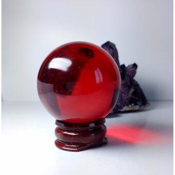 phra mongpol ลูกแก้วเพชรพญานาค.. (สีแดง) พร้อมฐานไม้