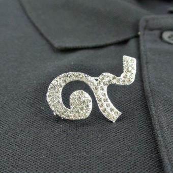 Pearl Jewelry เข็มกลัดไว้อาลัย เลข 9 สีเงิน DIY19