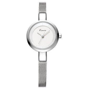 Kimio นาฬิกาข้อมือผู้หญิง สายสแตนเลส สี Silver หน้าปัดสีขาว รุ่น KW6115