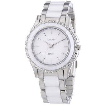 DKNY นาฬิกาข้อมือสตรี เซรามิก/สแตนเลส Westside Ceramic รุ่น NY8818 (White)