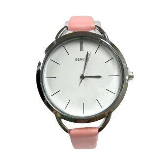 (New) GENEVA watch นาฬิกาข้อมือแฟชั่นผู้หญิง สายหนังสีขาว รุ่น WM0088