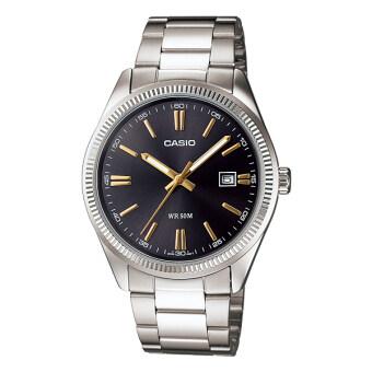 Casio Standard นาฬิกาข้อมือสุภาพบุรุษ สายสแตนเลส รุ่น MTP-1302D-1A2VDF - สีดำ