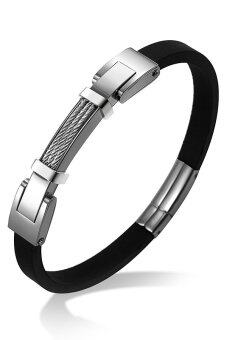 555jewelry กำไลข้อมือ รุ่น MNC-BG087-A (สี Steel)
