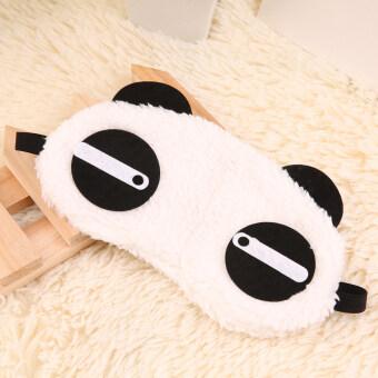 แพนด้าน่ารักค่ะผ้าสีพรางตาหลับหน้าตาหลับขับช่วยขาว