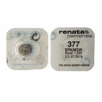 Renata ถ่านกระดุม SR626SW Silver 1.55V (1 ก้อน)