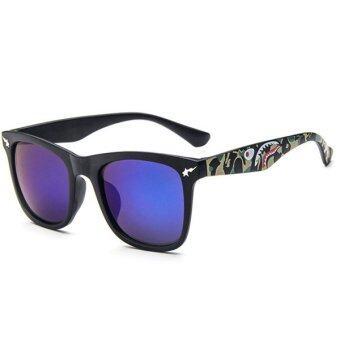 Man style Sunglasses แว่นตากันแดด รุ่น 15929 C04 (Blue/Black)