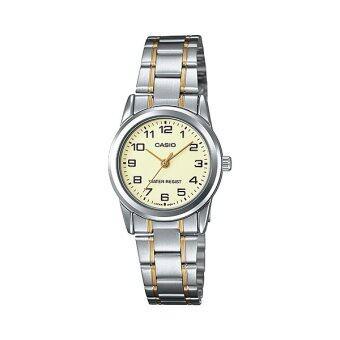 Casio Standard นาฬิกาข้อมือผู้หญิง สายสแตนเลส รุ่น LTP-V001SG-9BUDF - Silver