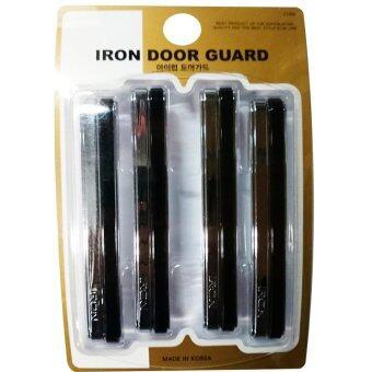 HC Iron Door Guard กันกระแทกประตู สีดำ/โครเมี่ยม 4 ชิ้น
