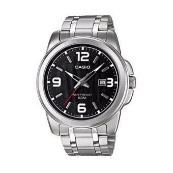 Casio Standard นาฬิกาข้อมือผู้ชาย สายสแตนเลส รุ่น MTP-1314D-1AVDF (สีดำ/สีเงิน)