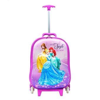 Disney กระเป๋าเดินทางปั๊มนูนเจ้าหญิง 18 นิ้ว