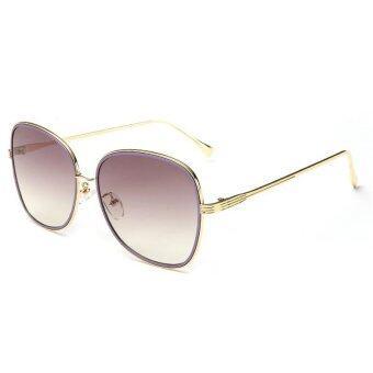 2559 ใหม่สายตาแว่นตากันแดดกรอบโลหะแฟชั่นแบรนด์ดีไซเนอร์สาวแมวแว่นกันแดดแว่นกันแดดวินเทจผู้ชาย UV400 óculos OL5 847...05 (สีม่วง)