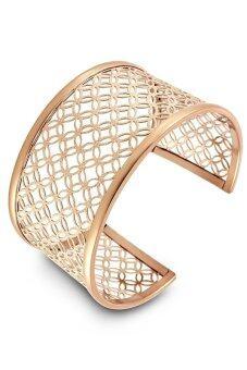 555jewelry กำไลสำหรับสุภาพสตรี รุ่น FSBG120-C ( Pink Gold )