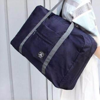 TravelGear24 กระเป๋าเดินทางแบบพับได้ กระเป๋าเดินทางแบบพกพา ล็อกกับกระเป๋าเดินทางได้ Travel Strip Foldable Bag (Navy/สำน้ำเงิน) (image 1)