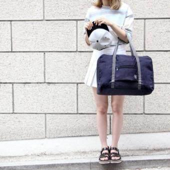 TravelGear24 กระเป๋าเดินทางแบบพับได้ กระเป๋าเดินทางแบบพกพา ล็อกกับกระเป๋าเดินทางได้ Travel Strip Foldable Bag (Navy/สำน้ำเงิน) (image 4)
