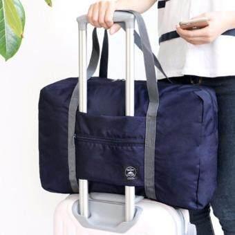 TravelGear24 กระเป๋าเดินทางแบบพับได้ กระเป๋าเดินทางแบบพกพา ล็อกกับกระเป๋าเดินทางได้ Travel Strip Foldable Bag (Navy/สำน้ำเงิน) (image 3)