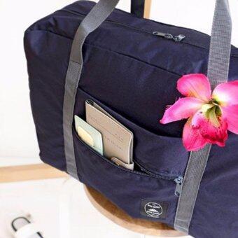 TravelGear24 กระเป๋าเดินทางแบบพับได้ กระเป๋าเดินทางแบบพกพา ล็อกกับกระเป๋าเดินทางได้ Travel Strip Foldable Bag (Navy/สำน้ำเงิน) (image 2)