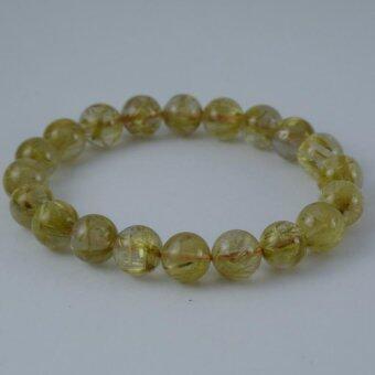 Pearl Jewelry กำไลหินไหมทอง A33