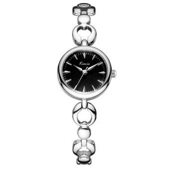 Kimio นาฬิกาข้อมือผู้หญิง สีเงิน หน้าปัดสีดำ สายสแตนเลส รุ่น KW6203 (Silver/Black)