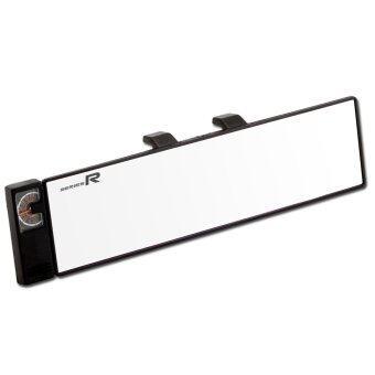 Series R กระจกมองหลัง แบบตรง พร้อมเทอร์โมมิเตอร์ กระจกรถยนต์ 270 มม.กระจกส่องหลัง รุ่น FL-102 (สีดำ)