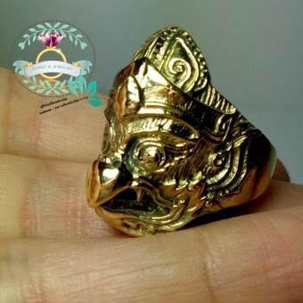 hindd แหวนพญาครุฑ เนื้อทองเหลือง