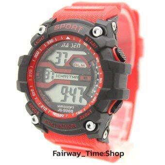นาฬิกาข้อมือผู้หญิงแนว Sport ระบบ DIGITAL พร้อมสายยางยืดหยุ่นสีสัน