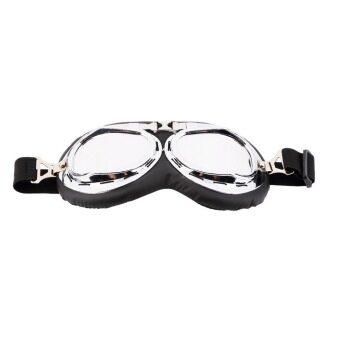 โอ้ร้อนแอนตี้ยูวีตู้รถจักรยานยนต์สคูเตอร์แว่นตาแว่นตาหมวกนักบินมอเตอร์ครอสเงิน