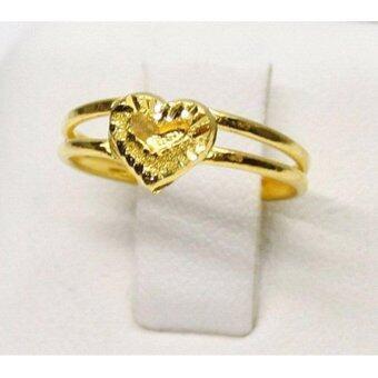PGold แหวนรูปหัวใจโดนัท ทองคำแท้ 96.5% 1 กรัม เบอร์ 52