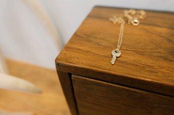 Meaningful Jewelry สร้อยคอนำโชค [Make A Wish : ทุกคำอธิษฐานเป็นจริง] สร้อยคอพร้อมจี้รูปกุญแจ