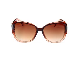 แฟชั่นแว่นตากันแดดผู้หญิง กรอบขนาดใหญ่ ดีไซส์ทันสมัย สีน้ำตาล 1 อัน